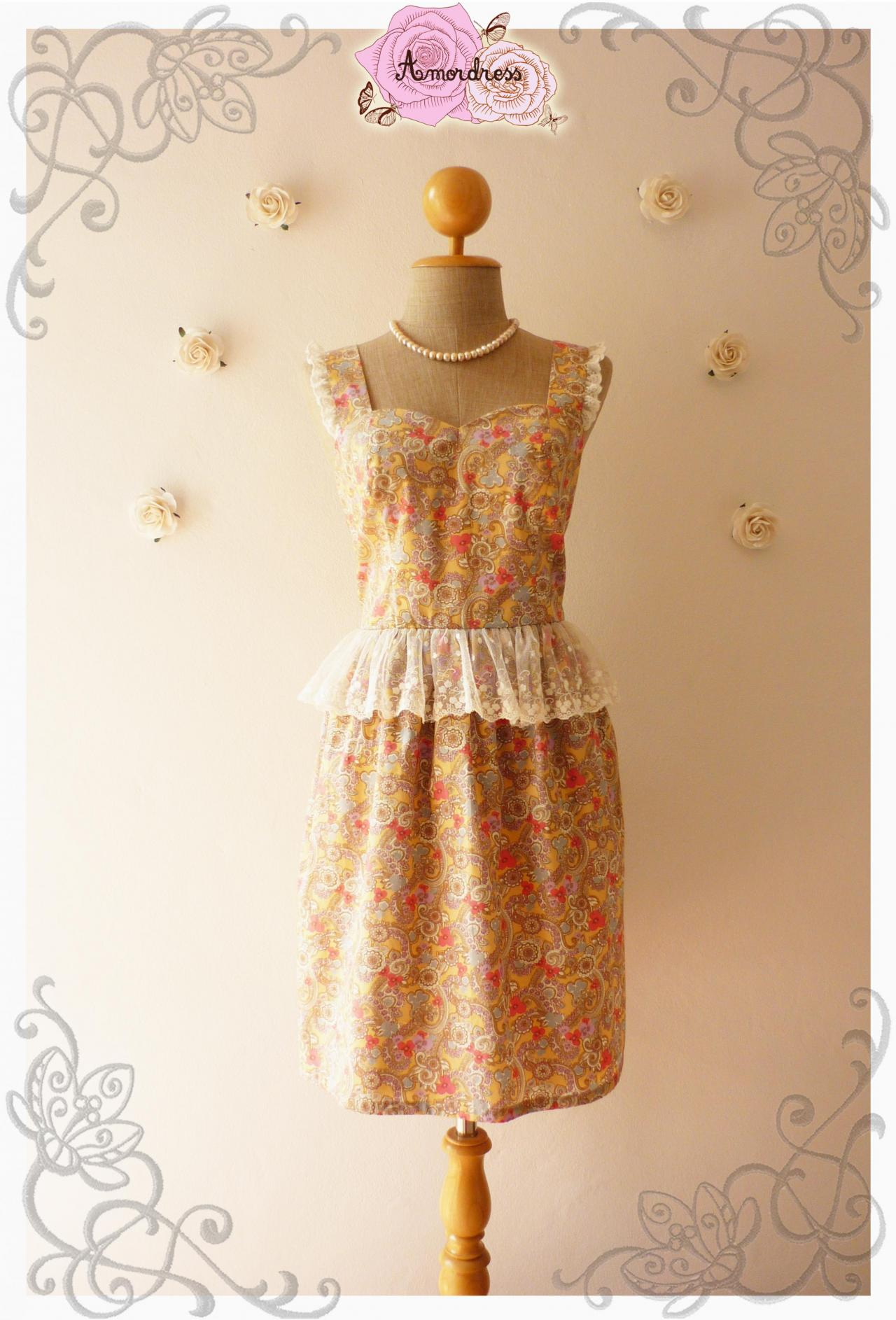 Angel wing sweet dress floral dress peplum summer dress for Angel wings wedding dress