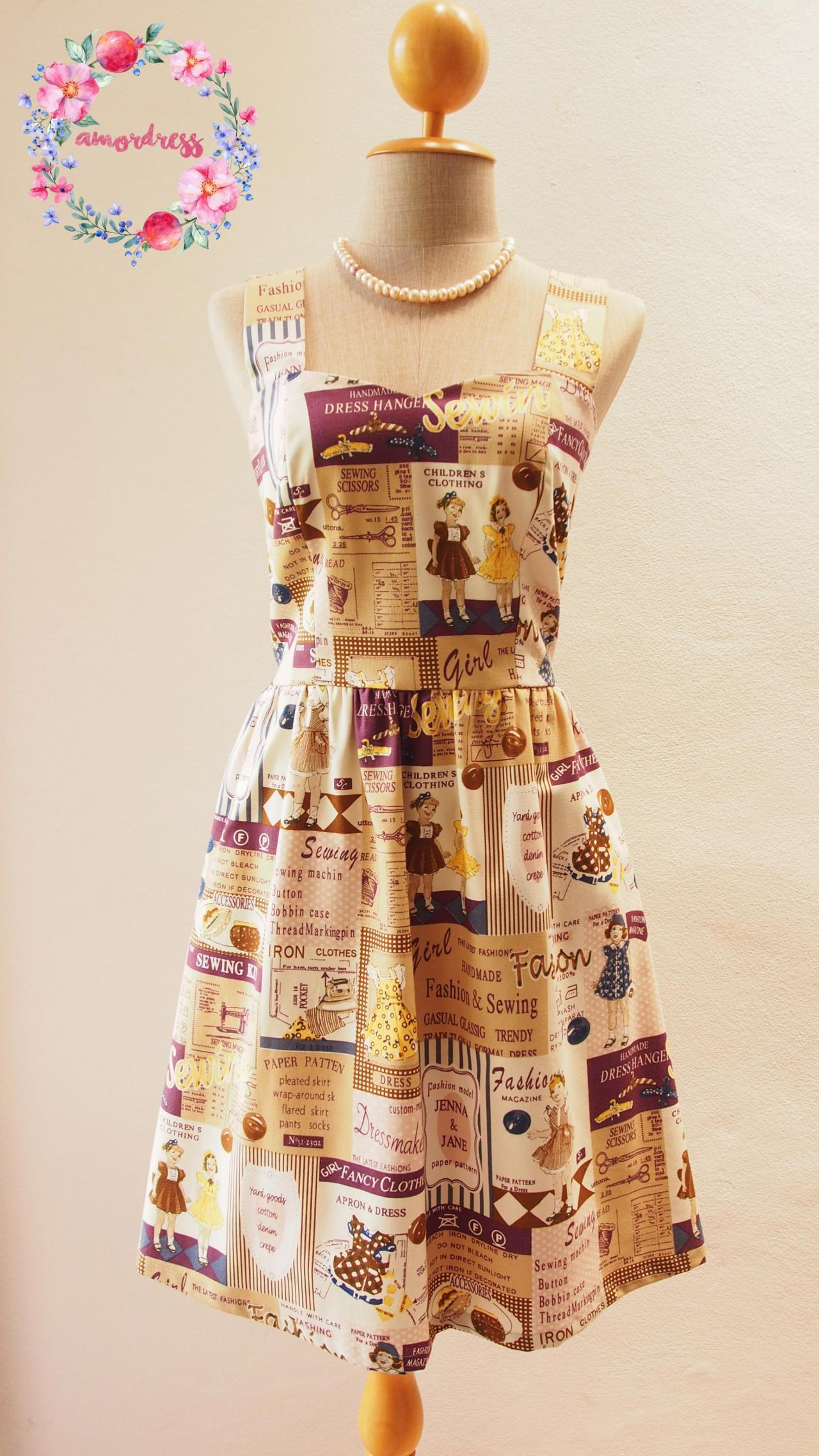 Quirky summer dress xs